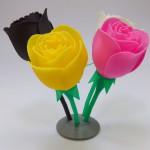 Ukázka vytisknutého 3D modelu - Růže
